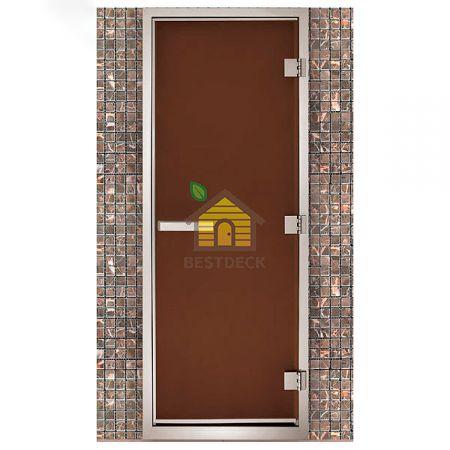 Дверь для хамама Maestro Woods Стекло бронза матовое