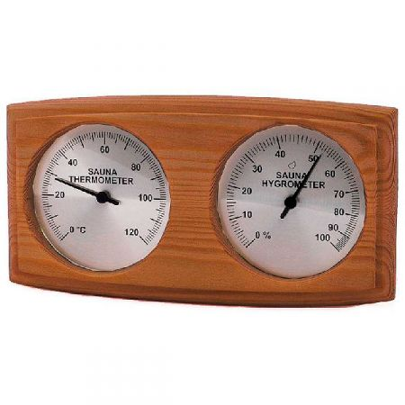 Термогигрометр из кедра 271-THBD для сауны