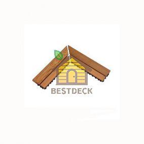 Деревянный коврик Sawo 595-CNR для сауны, угол рамки, 2 шт. в комплекте (сосна, кедр)
