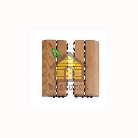 Деревянный коврик Sawo 595-SID для сауны, внешняя рамка, 2 шт. в комплекте (сосна, кедр)