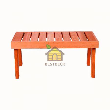 Скамейка Sawo 521-D из канадского кедра. Шир*Дл*Выс: 430х870х400 мм