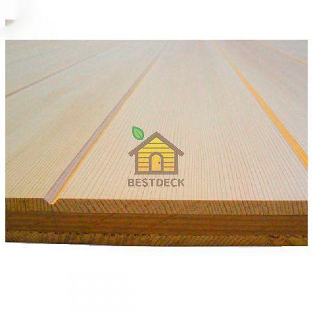 Панель из канадского кедра 3-х слойная; поверхность Имитация бруса; 17,5*285*3050 мм, Экстра
