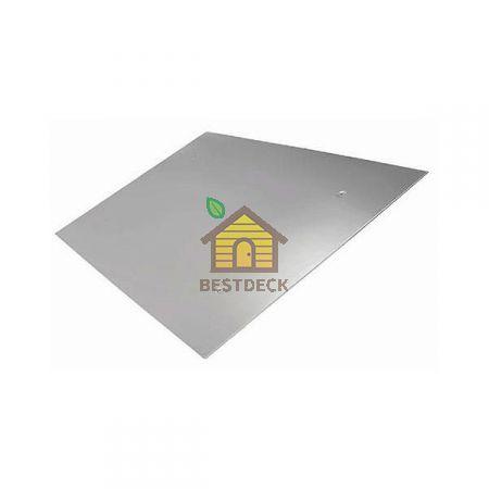 Экран зеркальный 980х980 мм из нержавеющей стали