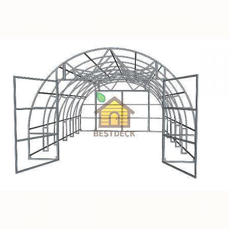 Многофункциональная теплица Агроном PRO под поликарбонат из профильной трубы 20*30 мм
