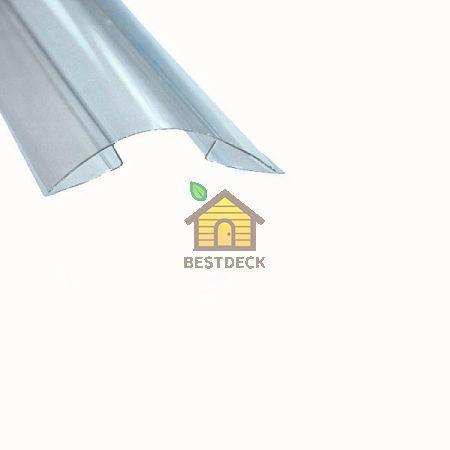 Коньковый профиль для поликарбоната