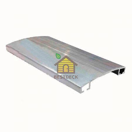 Соединительный алюминиевый прижимной профиль. Крышка без уплотнителя