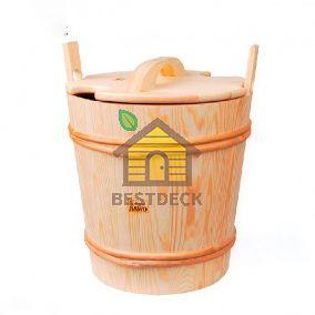 Деревянное ведро Sawo 381 с пластиковой вставкой 18 л. (осина, сосна, кедр)
