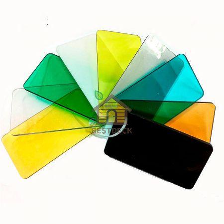 Поликарбонат монолитный 2050х3050 мм. Прозрачный и цветной