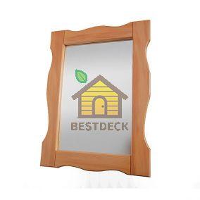 Зеркало из лиственницы 520х700 мм. Цвет: натуральный/мореный
