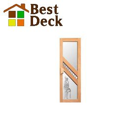 Дверь для сауны стекло+липа с рисунком