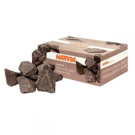 Габро-диабаз колотый (Harvia) для дровяной печи, упаковка 20 кг