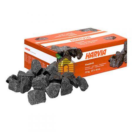 Габбро-диабаз колотый (Harvia) для электрокаменки, упаковка 20 кг