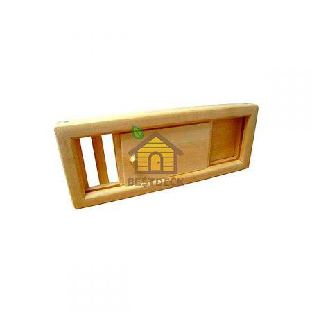 Вентиляционная задвижка для бани из липы
