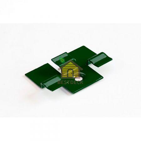 Кляймер для террасной доски. Зелёный