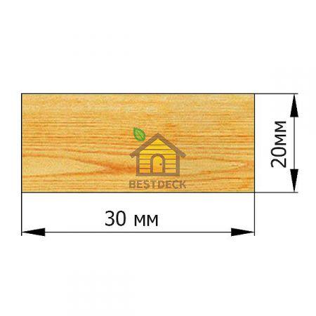 Рейка 20*30 строганая сухая
