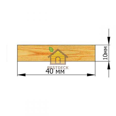 Рейка 10*40 строганая сухая