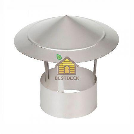 Зонт (колпак) одноконтурный для дымохода