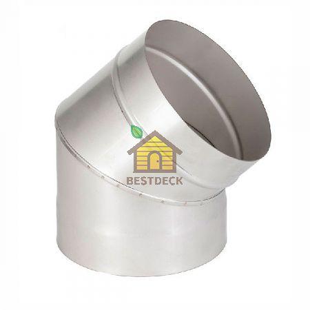 Колено (отвод) угол 45° для дымохода