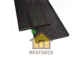 Фасадная доска-планкен из ДПК Экодэк 220*10 мм. Цвет: Венге.