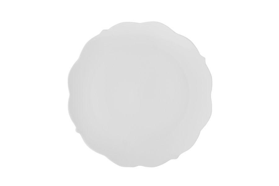 "Тарелка салатная ""Белая роза"" без инд.упаковки, 19 см"