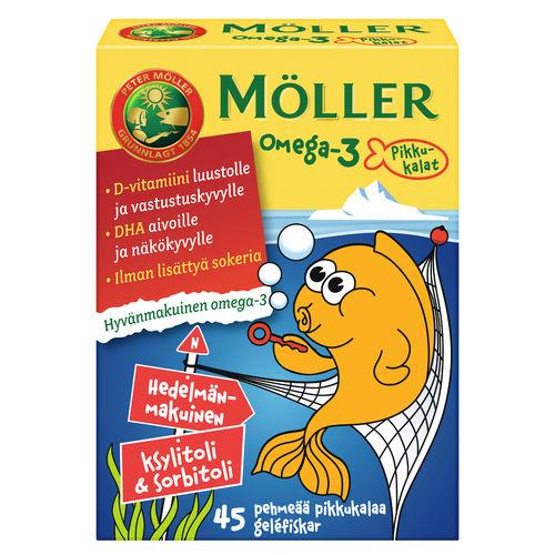 Moller Omega-3+D3 детские витамины 45 шт