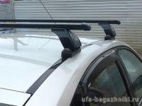 Багажник на крышу Mercedes-Benz CLS-klasse II (W218), Lux, прямоугольные стальные дуги