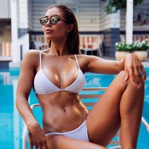 купальник белый, модель 65, размер S, M