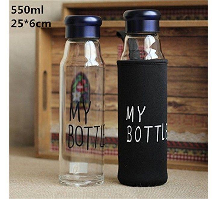 Стеклянная бутылка в чехле My Bottle (550 мл)