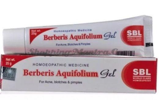 Гомеопатический гель против прыщей, угрей и пятен Берберис аквифолиум SBL Homeopathy | SBL Berberis Aquifolium Gel