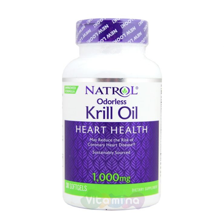 Natrol Omega 3 Krill Oil 1000 mg (Крилевый жир)