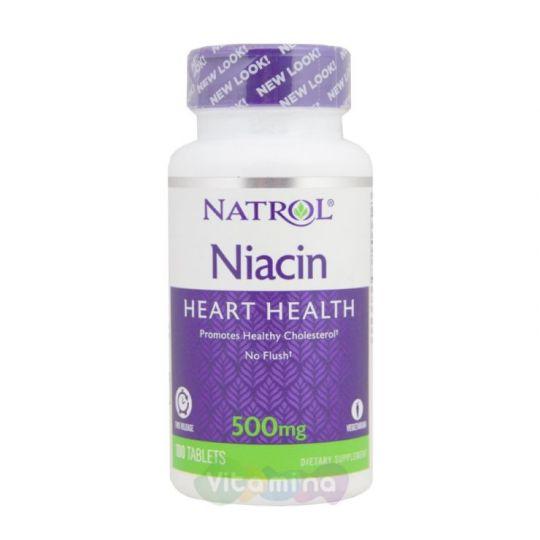 Natrol Niacin TR 500 мг (Ниацин, B3)