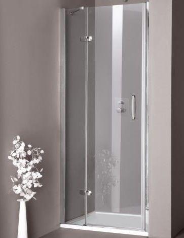 Huppe Aura elegance Распашная душевая дверь с неподвижным сегментом для ниши крепление слева 4001 ФОТО