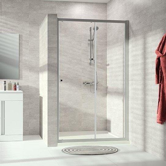 Huppe Alpha 2 Односекционная раздвижная душевая дверь с неподвижным сегментом, с частичным обрамлением A204 ФОТО