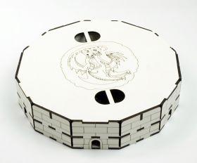 """Тарелка для бросания кубиков """"Дракон"""" белая"""