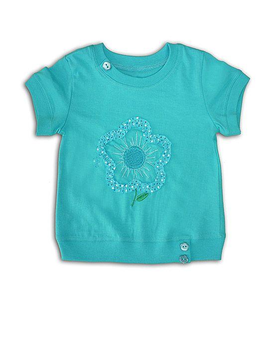 Блуза для девочки бирюзовая