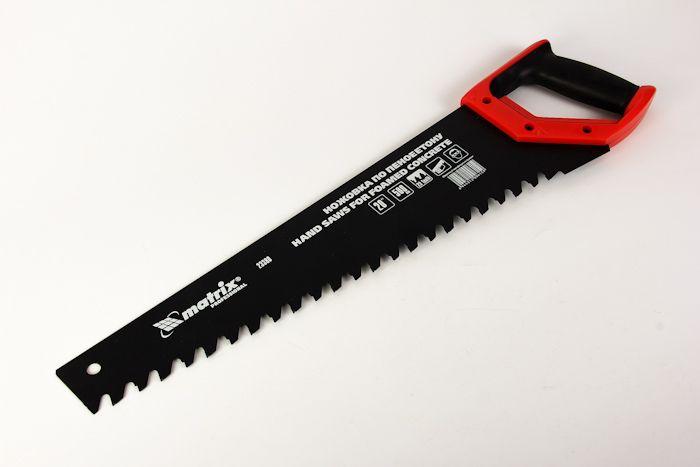 Ножовка по пенобетону MATRIX 500 мм, твердосплавные напайки на зубья, 2-х комп. рукоятка