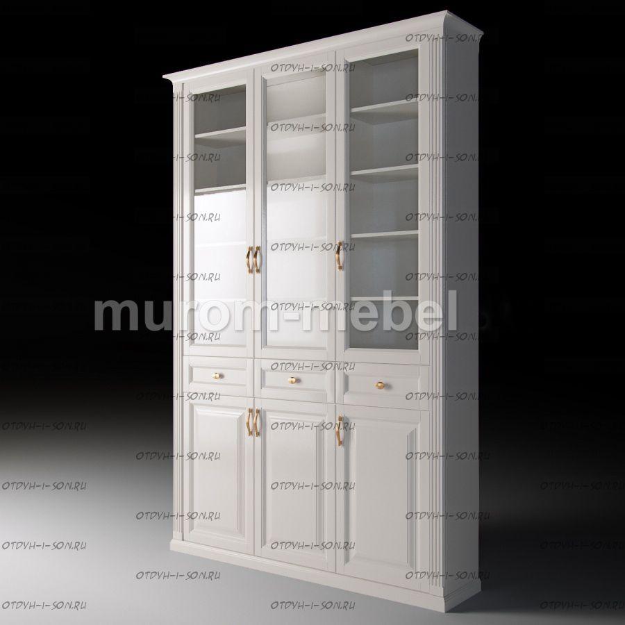 Шкаф 3-дверный с ящиками Валенсия (135х33х233)