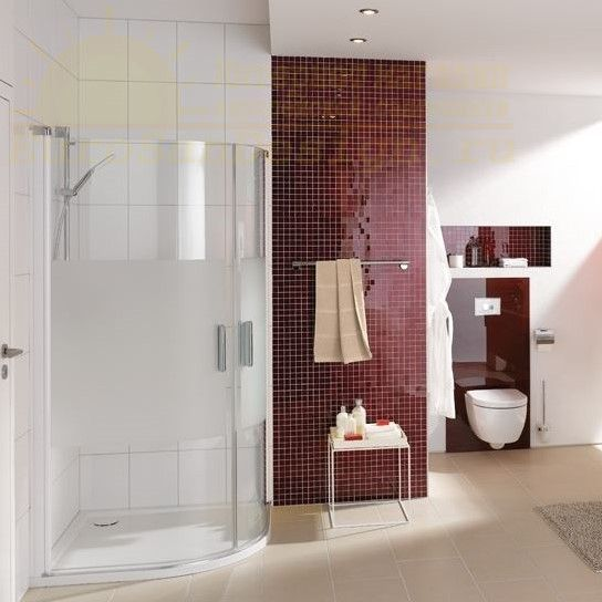 Huppe Design elegance 1/4 круга Двустворчатая распашная дверь 8E16 ФОТО