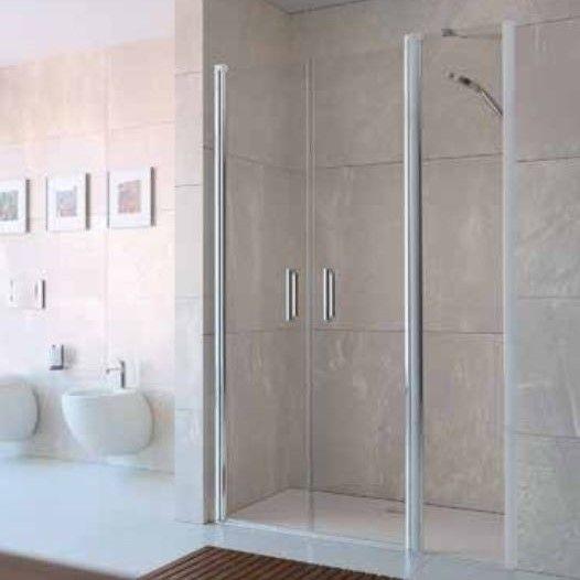 Huppe Design elegance душевая дверь, открывающаяся вовнутрь и наружу, с дополнительным элементом для ниши 8E75 ФОТО