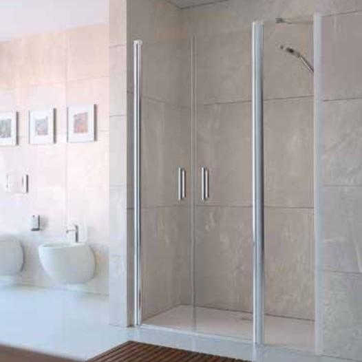 Huppe Design elegance Дверь, открывающаяся вовнутрь и наружу, с дополнительным элементом для ниши 8E75