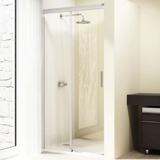 Huppe Design elegance Односекционная раздвижная дверь с неподвижным сегментом крепление слева 8E01