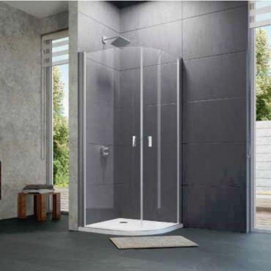 Huppe Design pure 1/4 круга Двустворчатая распашная дверь 8P16