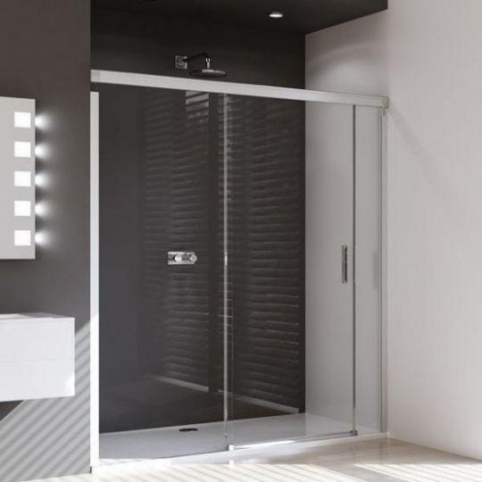 Huppe Design pure Раздвижная дверь с неподвижным сегментом и доп. элементом крепление слева 8P03