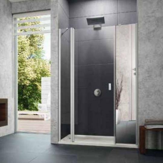 Huppe Design pure Распашная дверь с неподвижным сегментом и дополнительным элементом для ниши 8P73