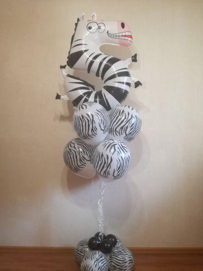 Фонтан с зеброй (только цифра 5)