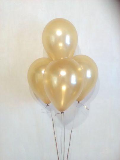 МИНИ золотой шар маленького размера с гелием