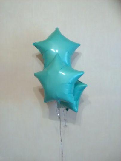Звезда мятная шар фольгированный с гелием