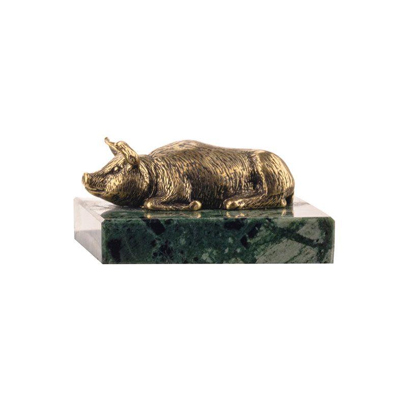 """Статуэтка """"Свинья"""" на натуральном камне"""