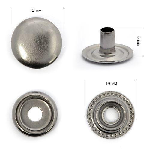 Кнопка №61 Тёмный никель 15мм сталь NewStar