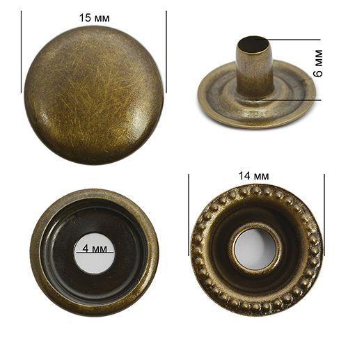 Кнопка №61 Антик 15мм сталь NewStar